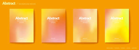 Set of brochure and flyer cover template, with chrome yellow blurry gradient background design