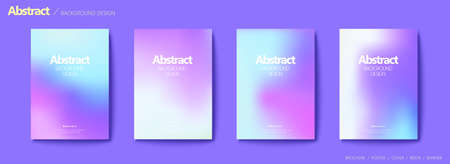 Set of brochure and flyer cover template, with lavender blurry gradient background design  イラスト・ベクター素材