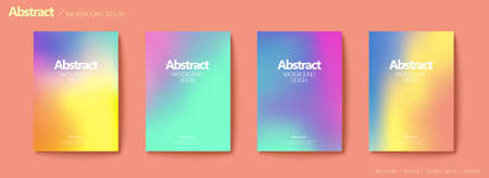 Set of brochure and flyer cover template, with colorful blurry gradient background design