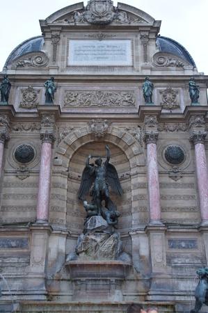 The fountain Saint-Michel in Paris.