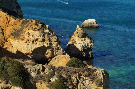 Portuguese landscape - Sea and rocks - The South of Portugal