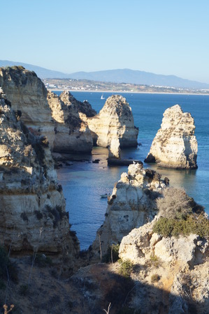 Sea and rocks - The South of Portugal - Vertical view (sight)