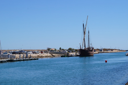 The port (bearing) of Lagos - South of Portugal - Front view