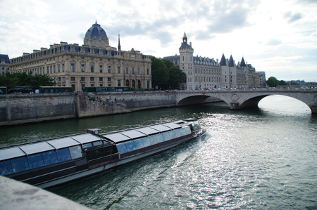 The Seine in Paris - France - Taking Grip (view) outside, without character and day.