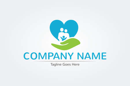 Healthcare medical heart family logo design, icons vector design hospital logos, signs and symbols.