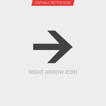 Right Arrow icon dark grey new trendy flat style vector symbol Illustration