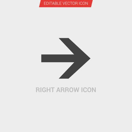 Right Arrow icon dark grey new trendy flat style vector symbol Vectores