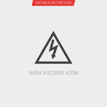 High Voltage icon dark grey new trendy flat style vector symbol