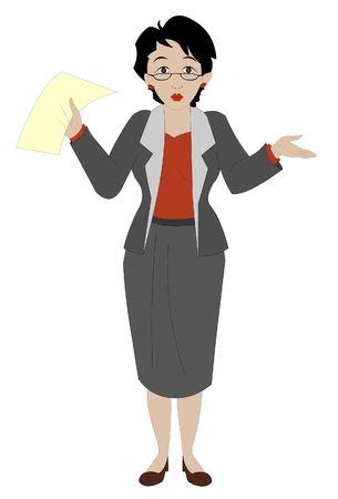 女性実業家: ビジネスの女性のプレゼンテーション  イラスト・ベクター素材