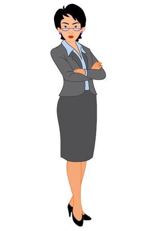 smart woman: business woman Illustration