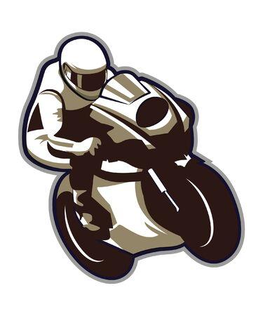 Retro vintage motorcycle racing. Vector illustration  イラスト・ベクター素材
