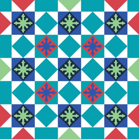 Baba and Nyonya Peranakan Tile and Mosaic pattern. Traditional seamless peranakan tile. Vintage Peranakan Chinese Tile found in Georgetown Penang - vector pattern template