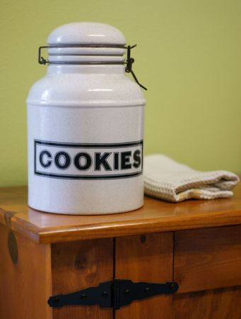 Rustic Cookie Jar Awesome Vintage Cookie Jar On Rustic Cabinet Stock Photo Picture And