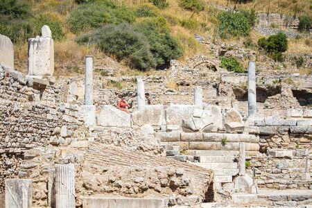 Ruins of Greek ancient city of Ephesus, Turkey.