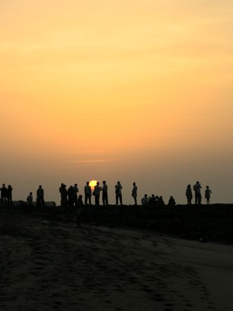 subcontinent: Sunrise in Kanyakumari, the southernmost tip of the Indian subcontinent.