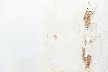 Grungy dirty white wall with cracks texture background
