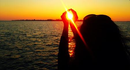 Florida Sunset, Caught the Sun Stok Fotoğraf