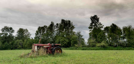old tractor: Old Tractor Stock Photo