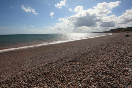 expanse: Wide expanse of pebbled beach