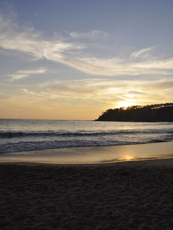 A Beautiful Sunset at Mirissa Beach, Sri Lanka photo
