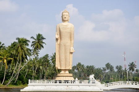 Bamiyan Buddha Replica at Tsunami Honganji Viharaya, Pareliya, Sri Lanka photo