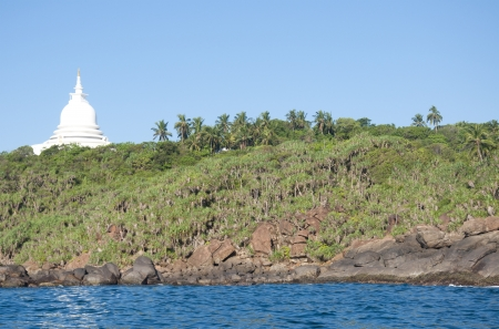 Dagoba in Unawatuna, Sri Lanka photo