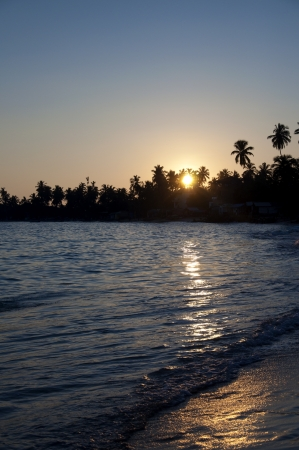 A Beautiful Sunset at Unawatuna Beach, Sri Lanka photo