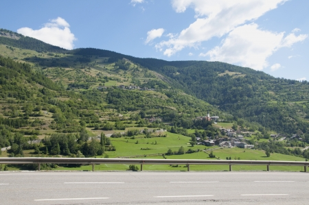 uplifting: Mountain Road in Italy Stock Photo