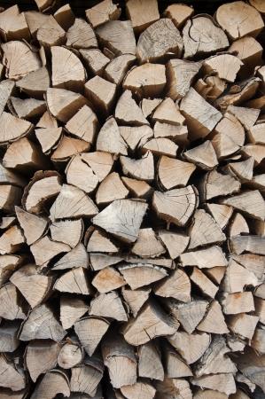 vevey: Logs of wood stacked in Vevey, Switzerland