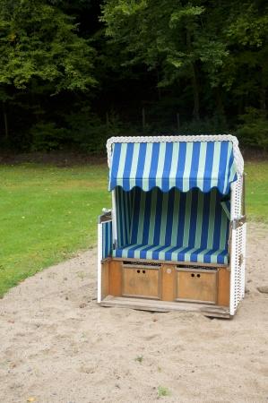 Beach Basket or Strandkorb in Germany photo