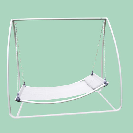 hemlock: A Swing Sunbed Isolated on Hemlock
