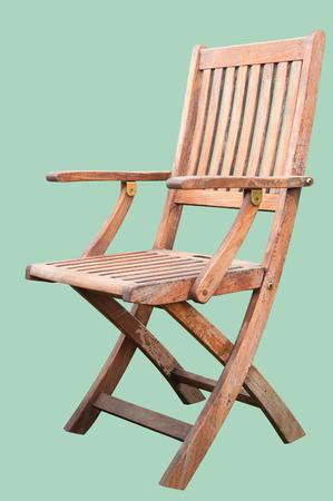 silla de madera: Una silla de madera aislada en Hemlock Foto de archivo