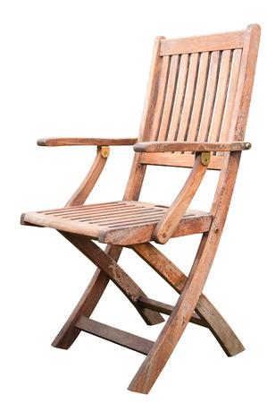 silla de madera: Una silla de madera aislada en blanco