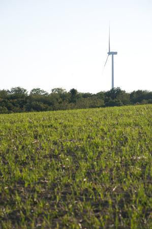 Windmill Besides a Field in Germany photo