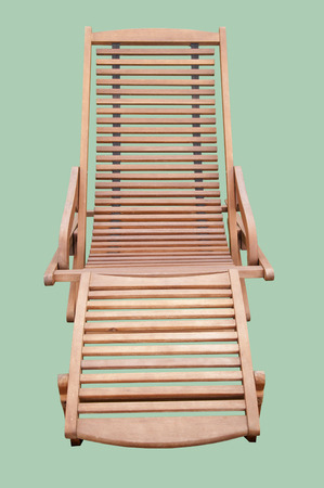 destress: A Wooden Sunbed Isolated