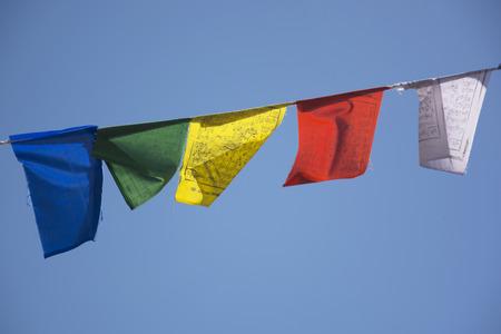 bir: Tibetan Prayer Flags in Bir North India