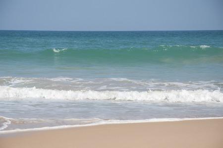 tangalle: Waves breaking near the shore at Tangalle, Sri Lanka Stock Photo