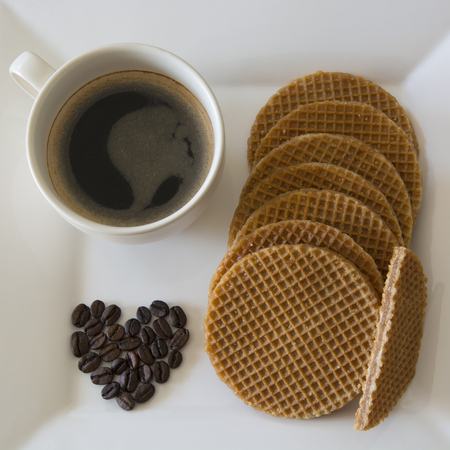 Caramel Stroopwafels and Black Coffee