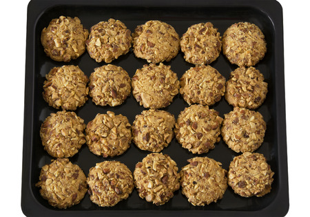 sinful: Delicious Almond Cookies on an Oven Tray