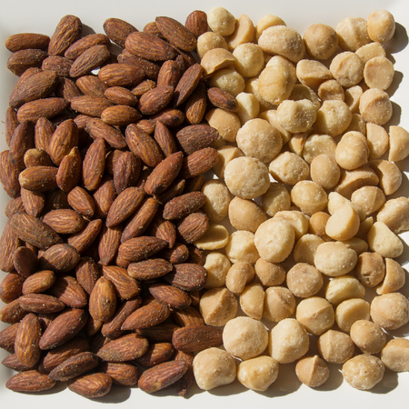 A Serving of Roasted and Salted Almonds and Macadamia Nuts
