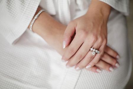 Bridal Ring, White Wedding, Diamond Ring