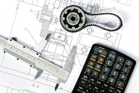 Machine part, caliper and calculator