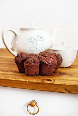 Muffins on table Stock Photo