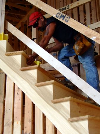 Construction - Making Stairs Stock Photo
