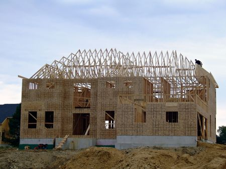 New Construction - Framed Stock Photo