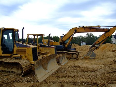 Heavy Equipment - Bulldozers and Backhoe