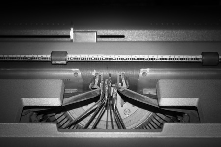Close up old typewriter,without paper photo