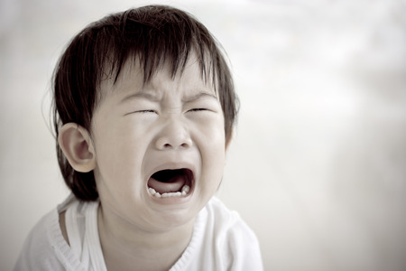 Portrait of a little asian girl (thai) crying