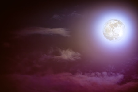 nightly: Attractive photo of background nighttime sky with cloud and bright full moon with shiny. Nightly sky with beautiful full moon. Outdoors at night. The moon were NOT furnished by NASA.