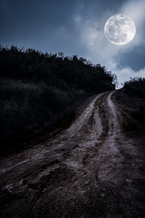 Moon Road Hiking Nature Landscape HD POSTER